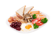 Traditional Full English Breakfast. Royalty Free Stock Images