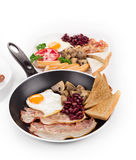 Traditional Full English Breakfast Royalty Free Stock Photography