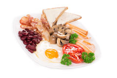 Traditional Full English Breakfast Royalty Free Stock Images