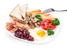 Traditional Full English Breakfast. Stock Images