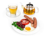 Traditional Full English Breakfast. Royalty Free Stock Photos
