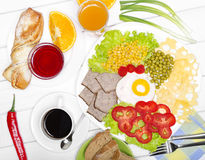 Traditional Full English Breakfastcon Royalty Free Stock Photography