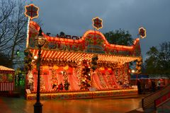 Traditional funfair stall Winter Wonderland Royalty Free Stock Photos