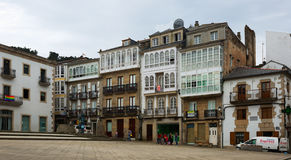 Traditional galician dwelling  architecture at Viveiro Stock Photos