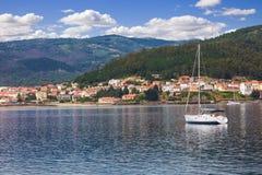 Traditional Galician fishing village Stock Image