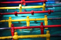 Traditional game of argentinian foosball, table football soccer also called Metegol in latin america. Game for adults and children Royalty Free Stock Image