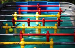 Traditional game of argentinian foosball, table football soccer also called Metegol in latin america. Game for adults and children Royalty Free Stock Photos