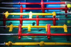 Traditional game of argentinian foosball, table football soccer also called Metegol in latin america. Game for adults and children Royalty Free Stock Images