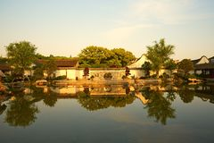 Traditional garden in Ningbo, China Royalty Free Stock Photography