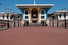 Traditional gate house for luxurious house in Oman Royalty Free Stock Photo