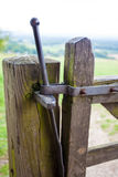 Traditional gate latch in rural England Stock Photo