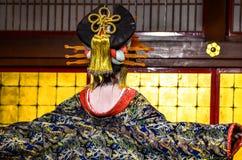Traditional Geisha Performance in Japan Stock Photo