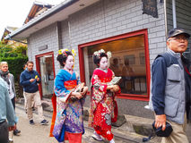 Traditional Geishas Royalty Free Stock Images