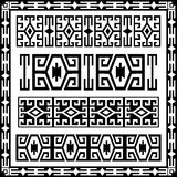 Traditional geometric design elements version. Border elements of the old motifs created stock illustration
