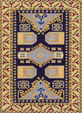Traditional Geometric Ethnic Orient Antique Carpet Textile. Traditional Ethnic Orient Antique Carpet Textile Anatolia Ornaments Geometric styles royalty free stock photo