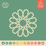 Traditional geometric oriental arabic pattern. Element for your design. Logo royalty free illustration