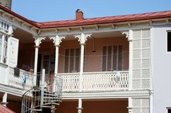 Traditional georgian architecture in Abanotubani,Tbilisi Royalty Free Stock Photo