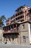 Traditional georgian architecture in Metekhi historic neighborhood of Tbilisi Royalty Free Stock Photo