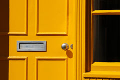 Traditional Georgian architecture yellow doorway Royalty Free Stock Images