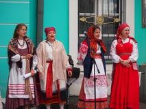 Traditional Georgian Folk Singers Royalty Free Stock Photography