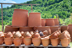 Traditional georgian jugs for wine Stock Photo