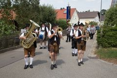 Traditional German Brass Band stock photography