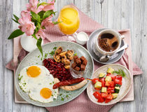 A traditional German breakfast Royalty Free Stock Photo