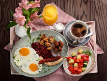 A traditional German breakfast Royalty Free Stock Image