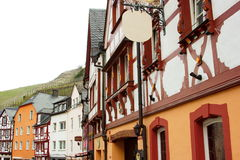 Traditional german buildings in Bernkastel-Kues on the river Mosel in Germany Royalty Free Stock Images