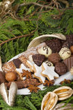 Traditional German Christmas cookies Stock Photos