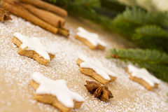 Traditional German Christmas cookies Stock Image