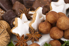 Traditional German Christmas cookies on display Stock Photo