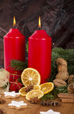 Traditional German Christmas decoration with cookies Stock Images