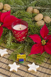 Traditional German Christmas decoration with cookies Stock Photos