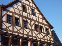Traditional german framed houses wit wooden structure Royalty Free Stock Photos