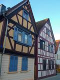 Traditional german framed houses wit wooden structure Stock Photography