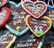 Traditional German Gingerbreads from Oktoberfest Royalty Free Stock Photo