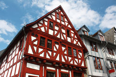 Traditional german house. Red and white traditional german house in Limburg, Germany stock image