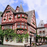 Traditional German house. Historic half timbered houses of the Rhine village of Bacharach, Germany Stock Images