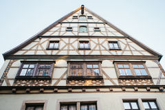 Traditional German house in Rothenburg ob der Tauber in Germany. European city. Architecture. Royalty Free Stock Images
