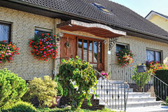Traditional german house with small garden Royalty Free Stock Images