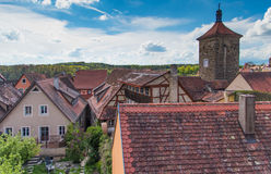 Traditional German houses with blue sky Royalty Free Stock Images