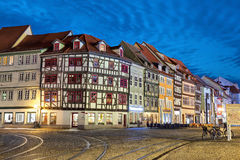 Traditional german houses in Erfurt Royalty Free Stock Images