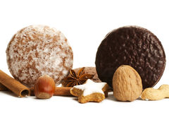 Traditional german lebkuchen setup Stock Photography