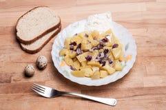 Traditional German potato salad Royalty Free Stock Images
