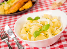 Traditional German potato salad Royalty Free Stock Images