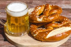 Traditional German pretzels Stock Photography