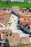 Traditional German Saxon village in Transylvania, Romania near S Royalty Free Stock Image