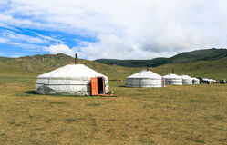 Traditional gers in Mongolia Stock Image