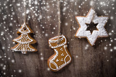 Traditional gingerbread cookies Stock Images